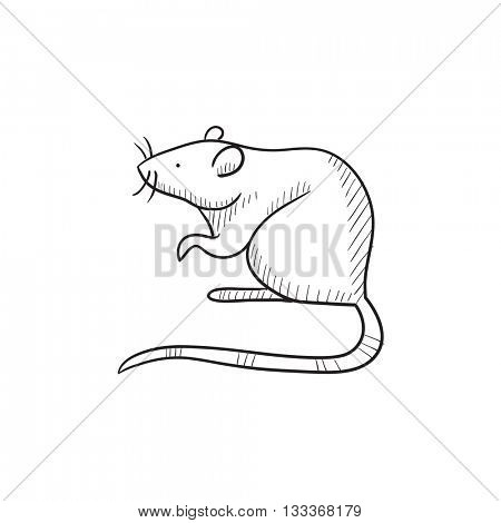 Mouse vector sketch icon isolated on background. Hand drawn Mouse icon. Mouse sketch icon for infographic, website or app.