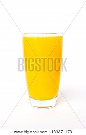 Navel orange juice isolated on white background