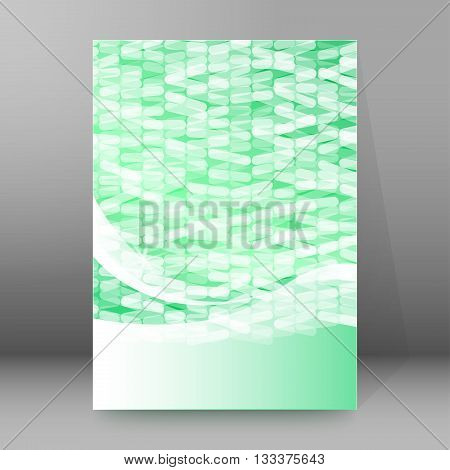 Design flyer label medical product. Vector illustration EPS 10 for infographics presentation template science and technology background social media brochure layout