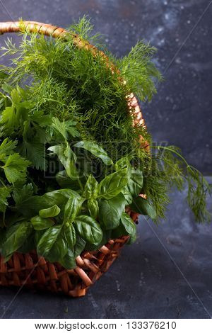 Mix Of Fresh Herbs