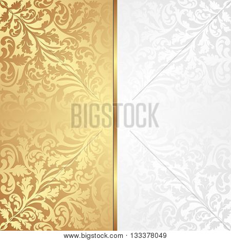 decorative background with vintage ornaments - vector illustration