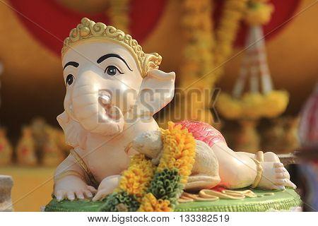 baby ganesh hindu god statue in bali thailand