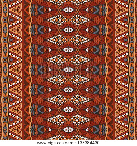 seamless indian ethnic tribal pattern. Geometric stripe background