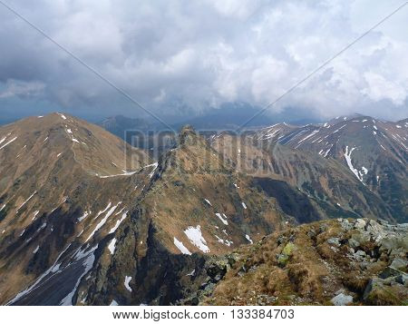 Tatry Mountains In Slovakia In The Spring