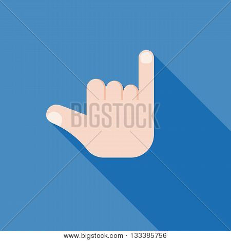 hand making sign icon, promise hand sign icon, homosexual symbol, hands clenched in a fist with little finger extended flat design with long shadow vector