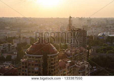 Sunset Pechersk In Kiev, Ukraine
