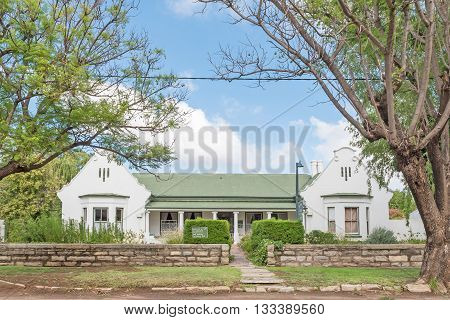CRADOCK SOUTH AFRICA - FEBRUARY 19 2016: An historic old house used as guest house in Cradock a medium sized town in the Eastern Cape Province
