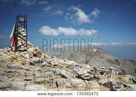 Panoramic view from Vihren peak, Pirin Mountain, Bulgaria