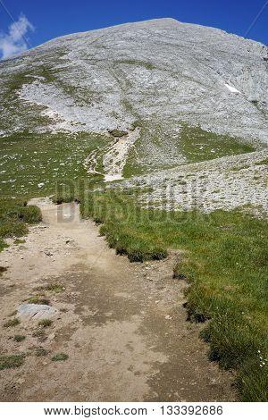 Trail for Climbing a Vihren Peak, Pirin Mountain, Bulgaria
