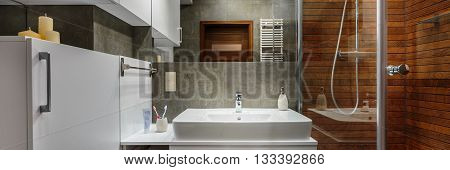 Panorama Of Contemporary Bathroom