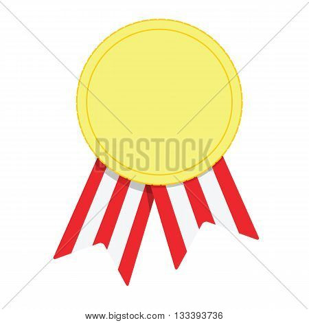 Reward sign. Vector success symbol isolated on white