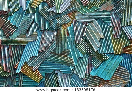 Zinc wall rusty surface style texture background
