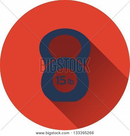 Kettlebell icon. Flat design UI. Vector illustration.