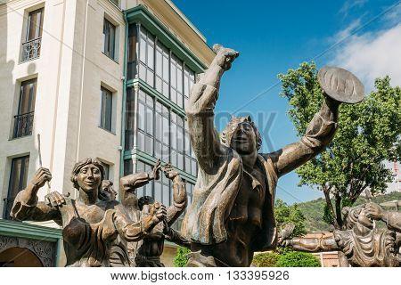 Berikaoba Scupture Statue In Tbilisi, Georgia.