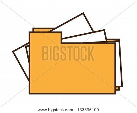Folder icon. Vector illustration isolated on white background.
