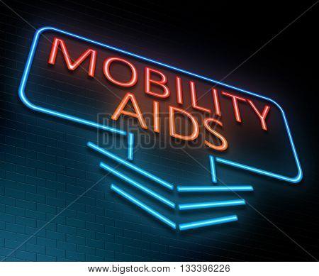 Mobility Aids Concept.