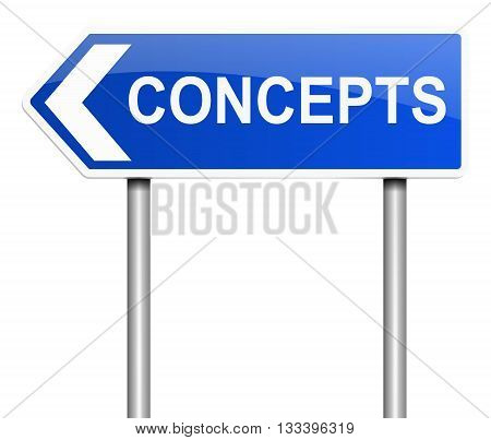 Concept Word Sign.