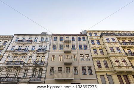 some old houses in Berlin Kreuzberg in summer