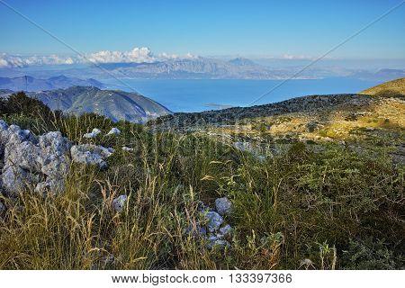 Amazing Landscape of mountain in Lefkada, Ionian Islands, Greece