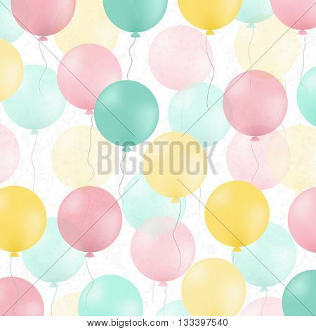 Postcard With Colorful Balloons, With Gradient Mesh, Vector Illustration