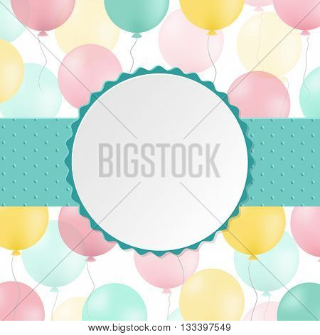 Birthday Postcard, With Gradient Mesh, Vector Illustration