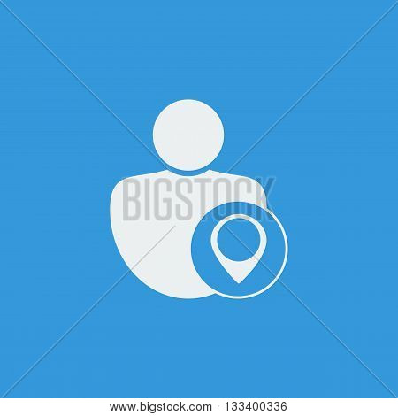 User Location Icon In Vector Format. Premium Quality User Location Symbol. Web Graphic User Location