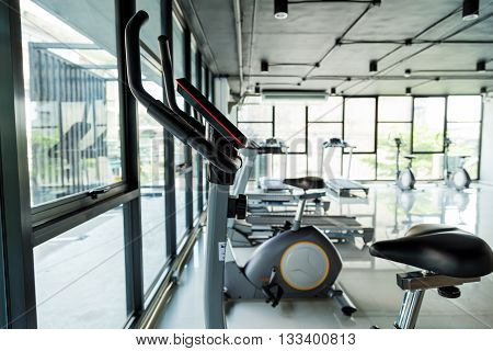 Background Image Of Fitness Equipment Room