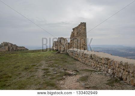 Gormaz Castle Ruins in Soria, Castilla leon, Spain