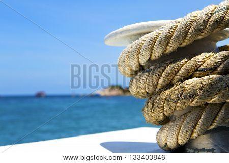 Asia   The  Kho Tao Bay Isle White  Ship   Rope  And South China Anchor