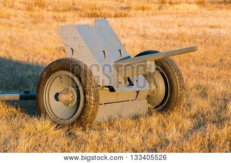 German Anti-tank Gun Pak 36 In Field