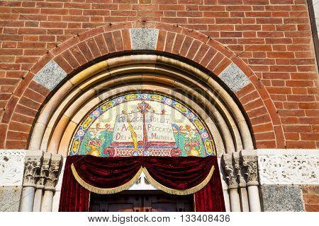 Church Door   In Italy  Lombardy   Red Velvet Tent