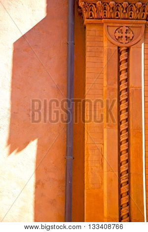 Copper Water Pipe  Pink Orange   In Italy Old