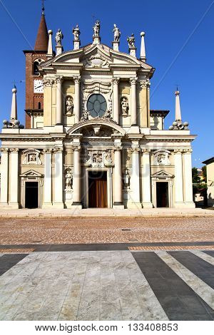 Busto Arsizio     The Old   Church  Closed Brick Tower Italy  Lombardy