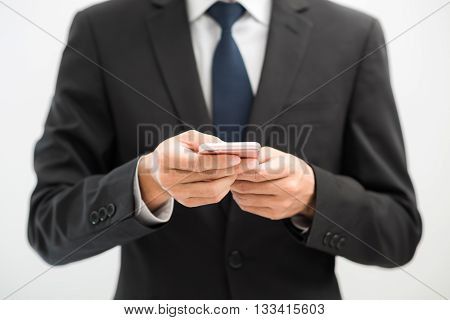 Handsome Business Asian Man Using Smart Phone
