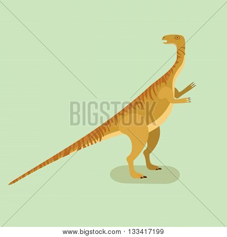 Plateosaurus icon. Prehistoric herbivore dinosaur. Extinct animal. Plateosaurus trendy flat vector illustration.