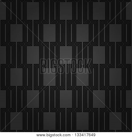 Seamless pattern by stripes. Modern vector background with repeating lines. Seamless geometric background. Dark geeometric pattern