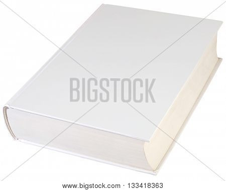 Empty Hard book Cover Isolated with Clipping path