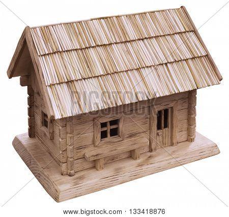 Old Wooden Cottage House Model