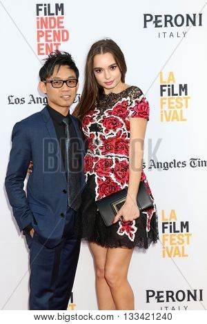 LOS ANGELES - JUN 7:  James Wan, Ingrid BIsu at the 2016 Los Angeles Film Festival - The Conjuring 2 Premiere at TCL Chinese Theater IMAX on June 7, 2016 in Los Angeles, CA