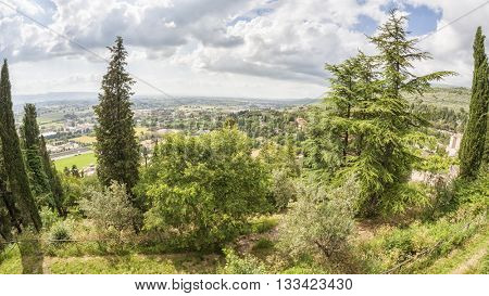 An image of a landscape scenery in Italy Umbria