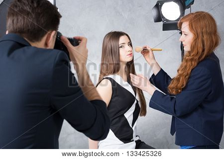 Backstage Of A Studio Beauty Session