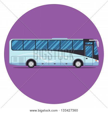 bus sity transportation set. Modern flat design. Vector illustration