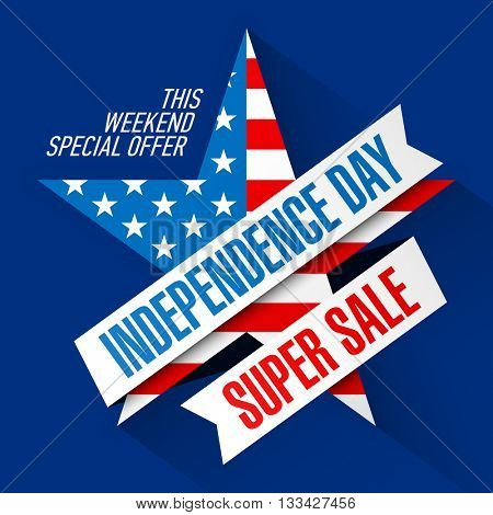 USA Independence Day Weekend Sale banner design template vector illustration