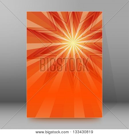 Brochure Cover Template Vertical Format Glowing Background08