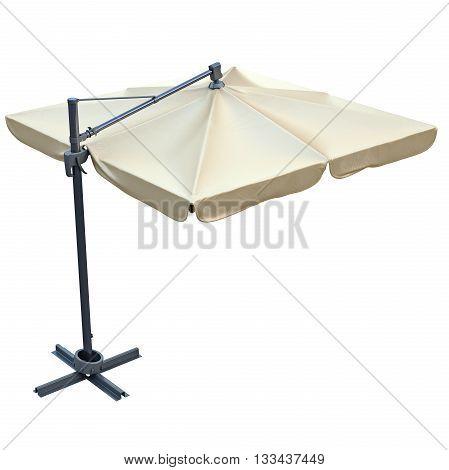 Patio umbrella, sunshade for relax. 3D graphic