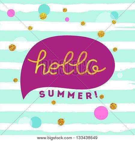 Hello summer illustration