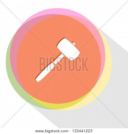 mallet. Internet template. Vector icon.