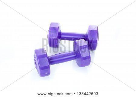 Two Violet Dumbbells