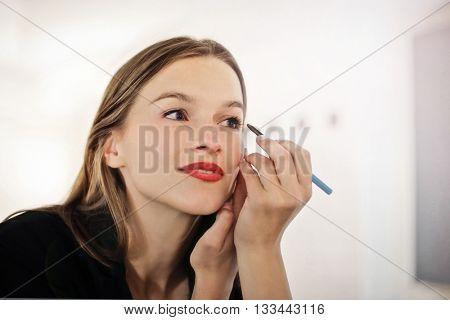 Woman wearing make up
