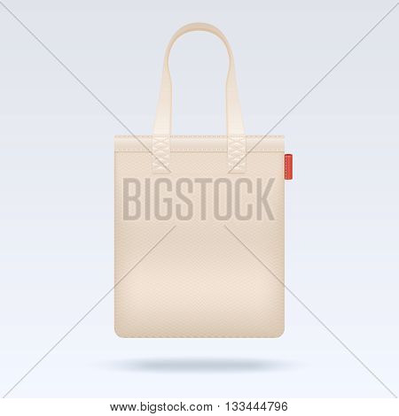 Blank white tote shopping bag vector template. Bag for shopping and fashion tote bag for buy illustration
